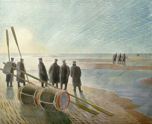 Eric Ravilious, Dangerous Work at Low Tide, 1940, Watercolour and pencil on paper, © Ministry of Defence, Crown Copyright 2015
