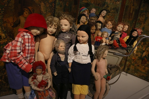 Peter Blake's dolls collection Magnificent Obsessions: The Artist as Collector Barbican Art Gallery 12 Feb – 25 May 2015  © Peter MacDiarmid / Getty Images