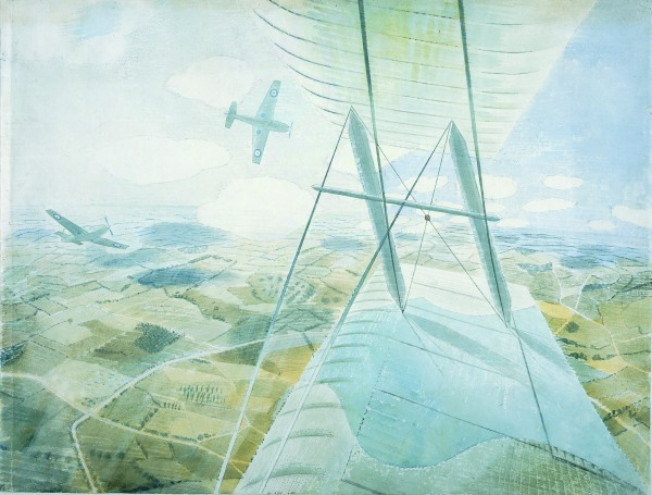 Eric Ravilious, Hurricane in Flight, c.1942, Watercolour and pencil on paper, Private Collection