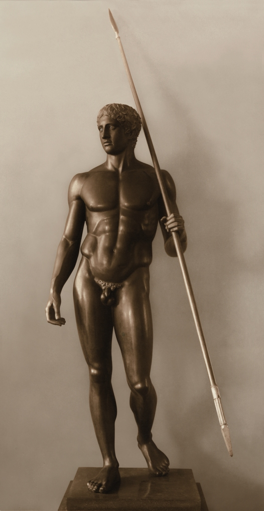Reconstruction, by Georg Roemer, of the 3rd century BC Greek bronze Doryphoros, or 'Spear bearer', of Polykeitos of Argos. 1920-21. © DAI German Archaeological Institute