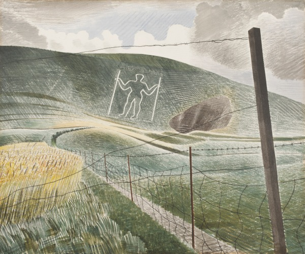 Eric Ravilious, The Wilmington Giant, 1939, Watercolour and pencil on paper, ©Victoria and Albert Museum
