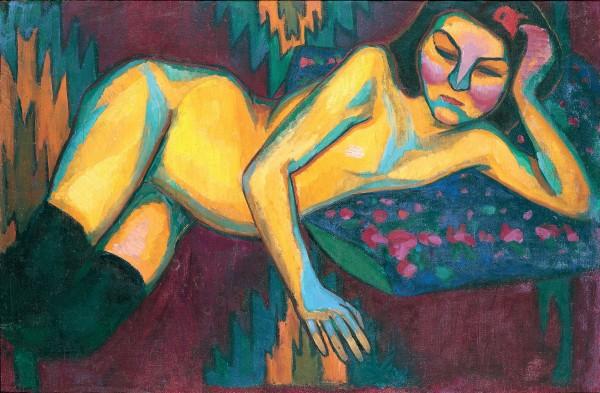 Sonia Delaunay, Yellow Nude (1908) Musée des Beaux-Arts de Nantes, Nantes  © Pracusa 2014083
