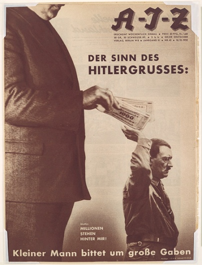 The Meaning of the Hitler Salute: Little man asks for big gifts.