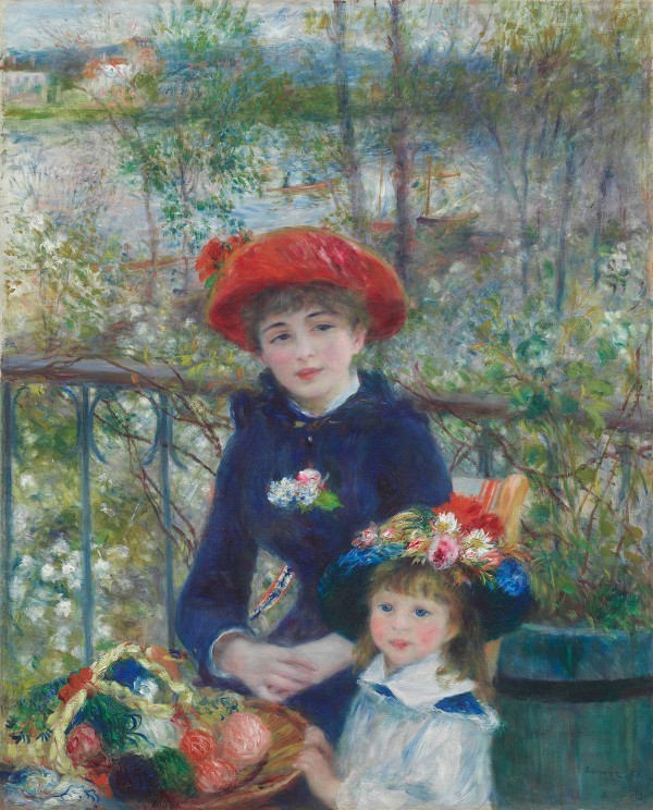 Pierre-Auguste Renoir Two Sisters (On the Terrace), 1881 Oil on canvas 100.4 x 80.9 cm The Art Institute of Chicago, Mr. and Mrs. Lewis Larned Coburn Memorial Collection 1933.455 © The Art Institute of Chicago, Illinois