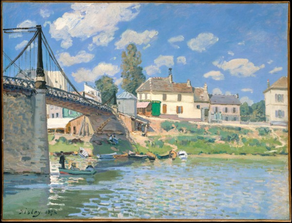 Sisley, Alfred, The Bridge at Villeneuve-la-Garenne (1872) Lent by The Metropolitan Museum of Art, Gift of Mr. and Mrs. Henry Ittleson Jr., 1964 © The Metropolitan Museum of Art, New York