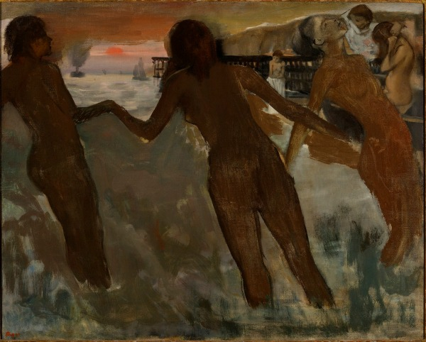 Hilaire-Germain-Edgar Degas, Peasant Girls bathing in the Sea at Dusk (1869-75) Private Collection, Ireland © Photo courtesy of the owner