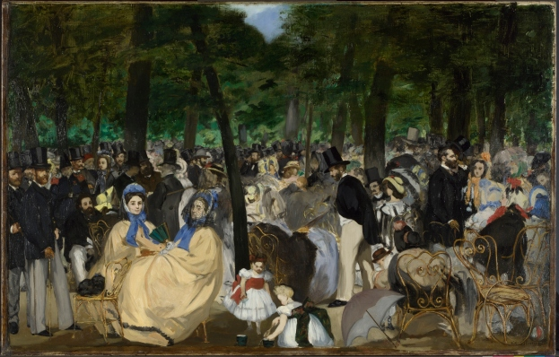 Edouard Manet, Music in the Tuileries Gardens (1862) The National Gallery, London, Sir Hugh Lane Bequest, 1917 © The National Gallery, London