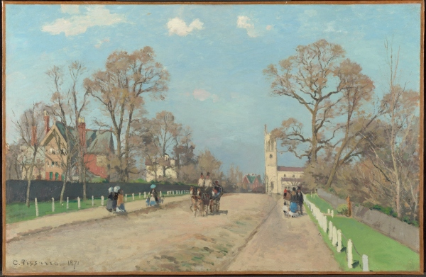 Camille Pissarro, The Avenue, Sydenham (1871) The National Gallery, London, Bought, 1984 © The National Gallery, London