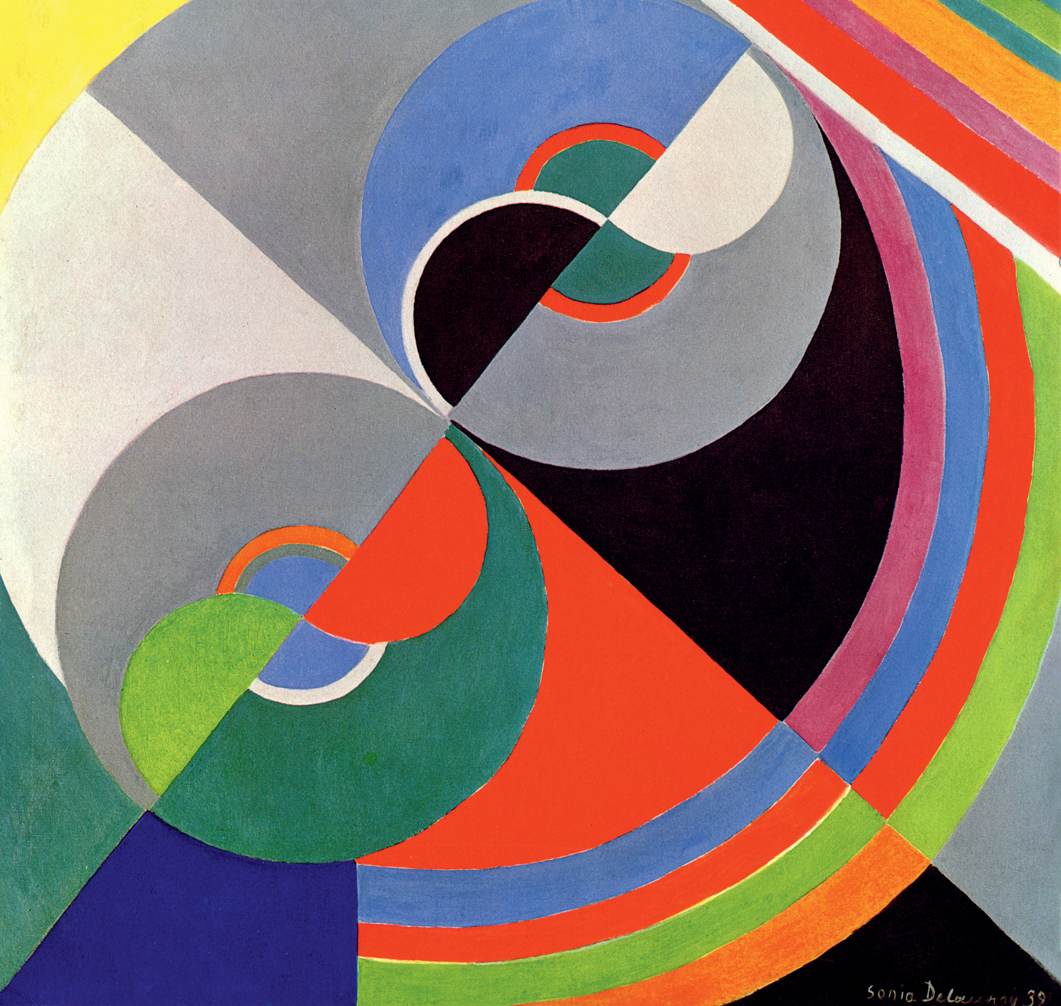 Sonia Delaunay, Rhythm Colour no. 1076 (1939)