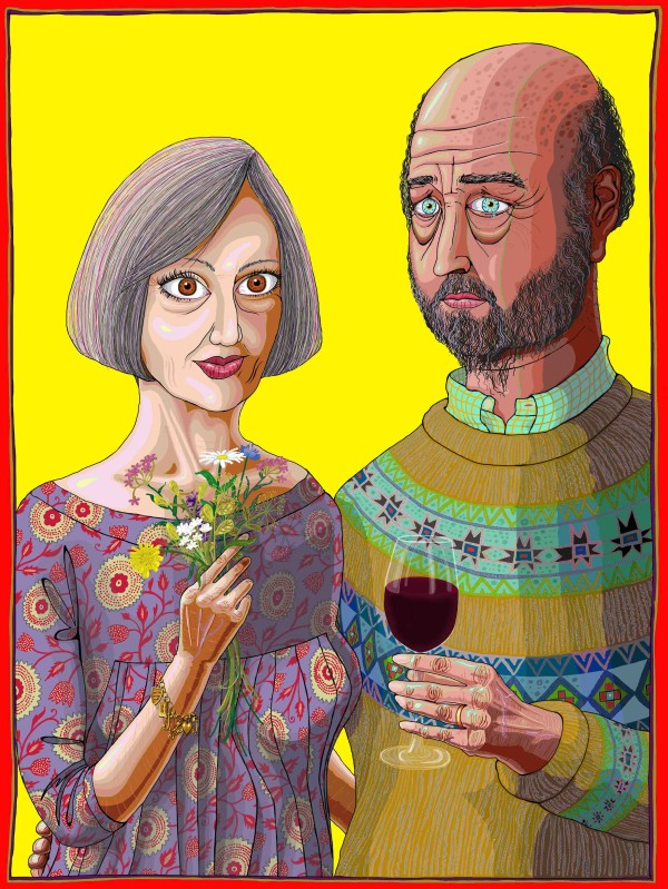 Julie and Rob (2013) Grayson Perry CBE RA Courtesy the artist, Paragon/Contemporary Editions and Victoria Miro, London