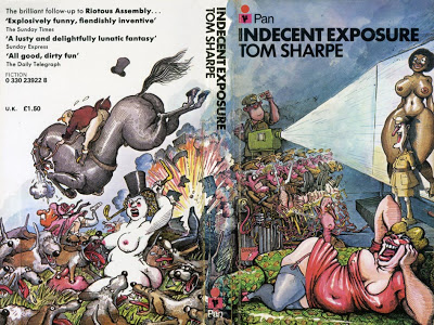 Pan paperback cover of Indecent Exposure by the brilliant Paul Sample