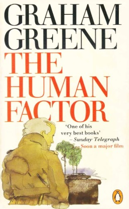 Penguin paperback cover of The Human Factor, illustration by Paul Hogarth
