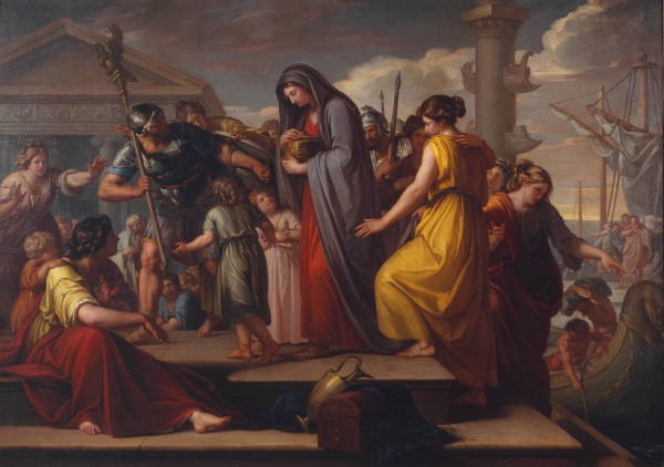 Gavin Hamilton, Agrippina Landing at Brindisium with the Ashes of Germanicus (1765-72) Tate