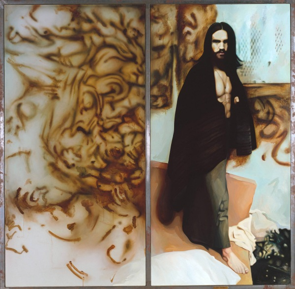 Richard Hamilton, The citizen (1981-3) Oil paint on two canvases Tate © The estate of Richard Hamilton