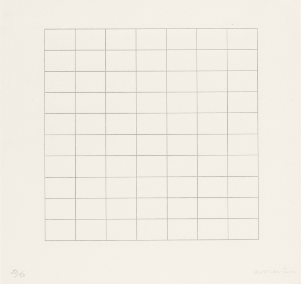 Agnes Martin, On a Clear Day (1973) Parasol Press, Ltd. © 2015 Agnes Martin / Artists Rights Society (ARS), New York
