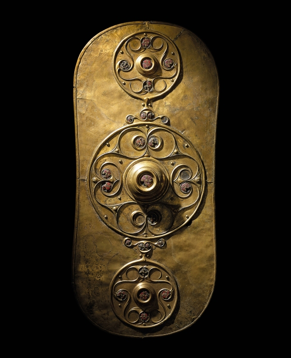 The Battersea Shield. Bronze, glass. Found in the River Thames at Battersea Bridge, London, England, 350-50 BC. © The Trustees of the British Museum