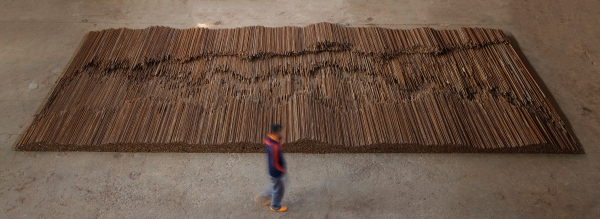 Ai Weiwei, Straight (2008-12) Steel reinforcing bars Lisson Gallery, London Image courtesy Ai Weiwei (c) Ai Weiwei