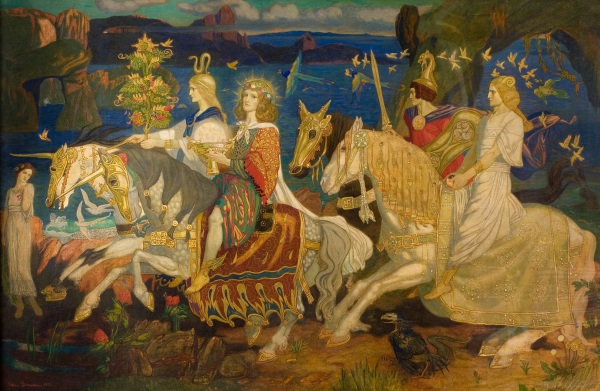 The Riders of the Sidhe. Tempera on canvas. John Duncan, 1911. © Dundee City Council (Dundee's Art Galleries and Museums)