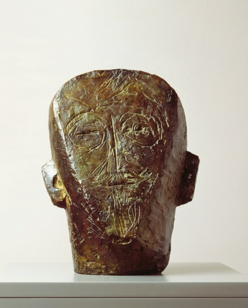 The Artist's Father (flat and engraved) by Alberto Giacometti (1927) Kunsthaus Zürich, Alberto Giacometti-Stiftung © The Estate of Alberto Giacometti (Fondation Giacometti, Paris and ADAGP, Paris)