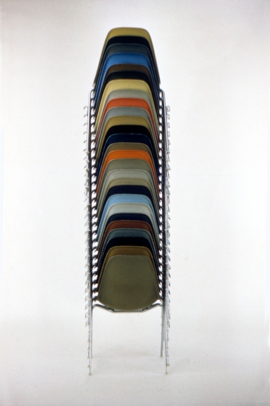 The World of Charles and Ray Eames - Stacking Chairs, 1957. © Eames Office LLC.