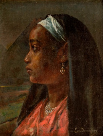 Ervand Demerdjian Nubian Girl (Undated) Oil on canvas. Image courtesy of Safarkhan Art Gallery, Barjeel Art Foundation, Sharjah.