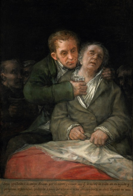 Francisco de Goya Self Portrait with Doctor Arrieta (1820) Lent by The Minneapolis Institute of Art, The Ethel Morrison Van Derlip Fund © Minneapolis Institute of Art