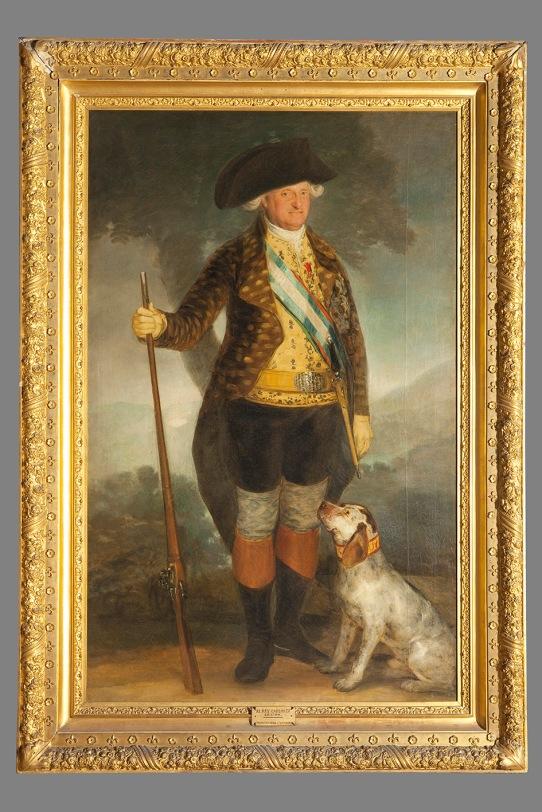 Francisco de Goya Charles IV in Hunting Dress (1799) Colecciones Reales, Patrimonio Nacional, Palacio Real de Madrid © Patrimonio Nacional