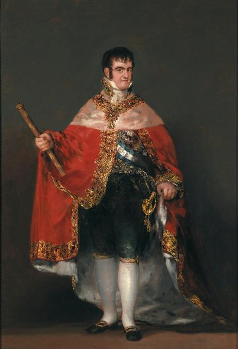 Francisco de Goya Ferdinand VII in Court Dress (1814-5) © Madrid, Museo Nacional del Prado