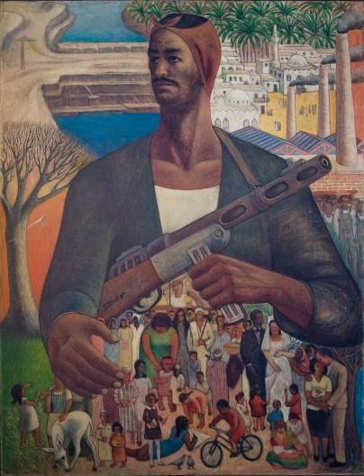Hamed Ewais Le Gardien de la Vie (1967 - 1968) Oil on canvas. Image courtesy of Christie's, Barjeel Art Foundation, Sharjah.