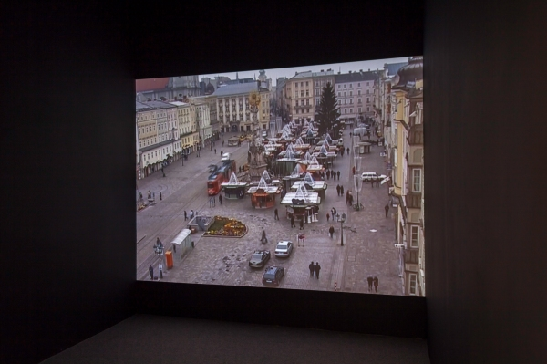 Installation view: Emily Jacir: Europa (Nothing Will Happen (eight normal Saturdays in Linz) (2003) Courtesy of the artist. Photo: Dan Weill.