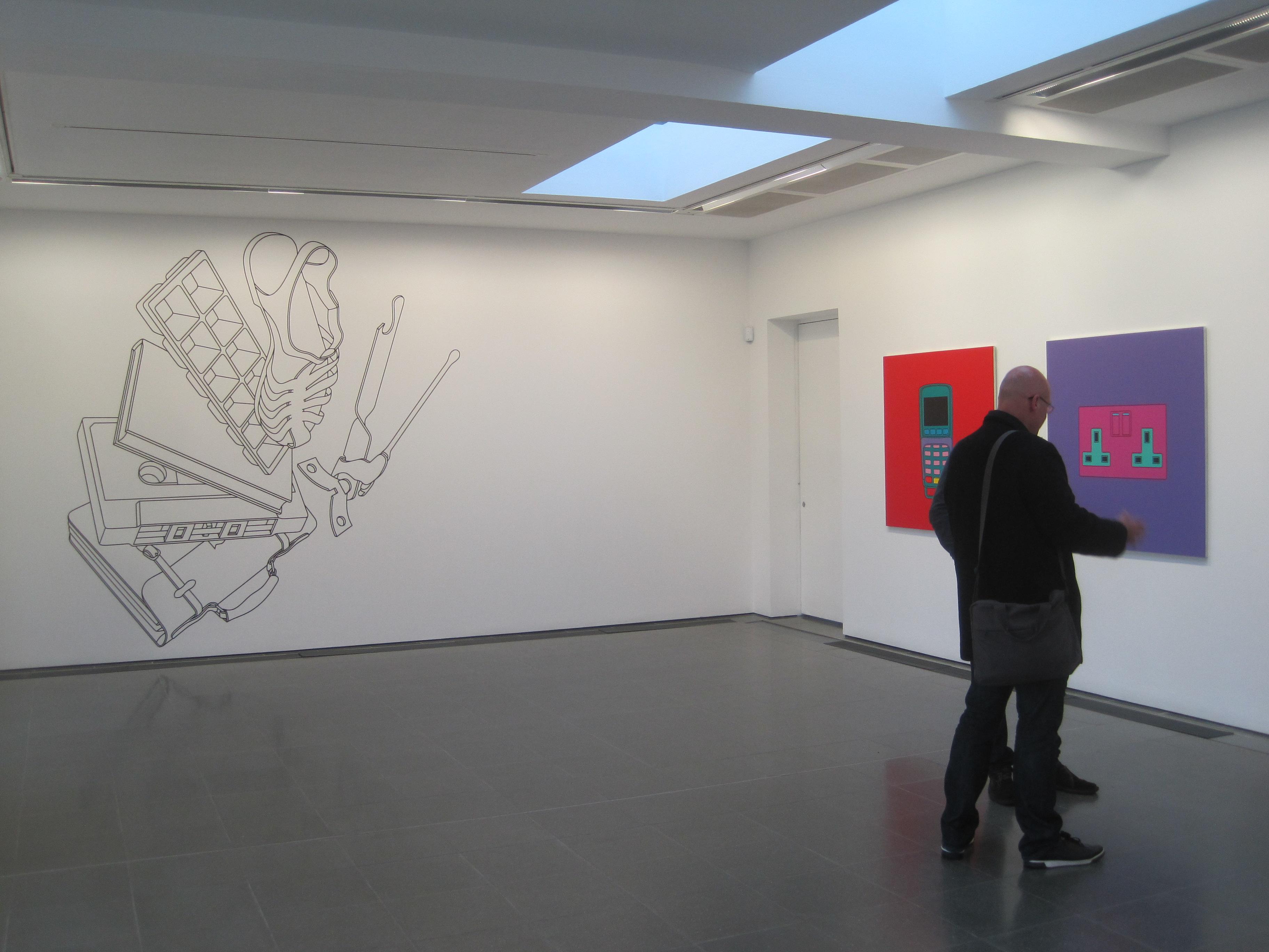 Installation View Of Vertigo By Michael Craig Martin 1981 At The Serpentine Gallery