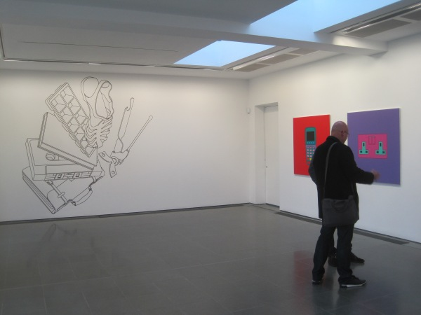 Installation view of Vertigo by Michael Craig-Martin (1981) at the Serpentine Gallery. Photo: Simon Port