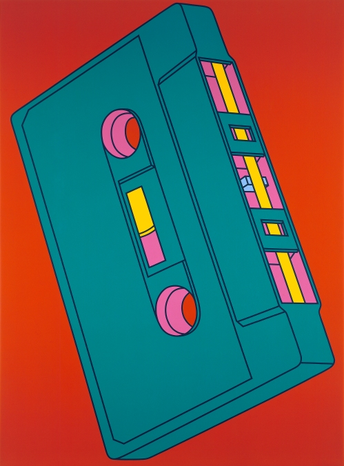 Michael Craig-Martin Cassette (2002) Acrylic on canvas 289.6 x 208.3cm © Michael-Craig Martin. Courtesy of Gagosian Gallery.