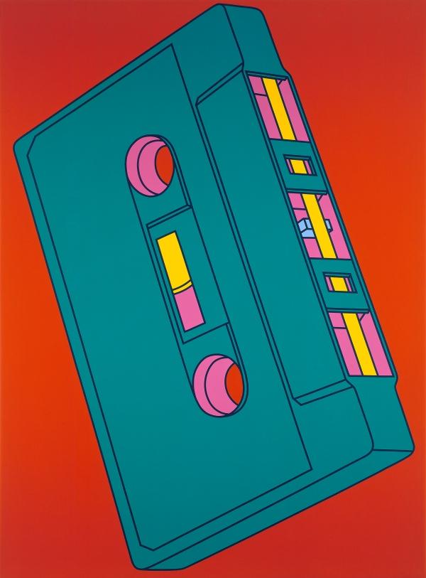 Michael Craig-Martin Cassette (2002) Acrylic on canvas 289.6 x 208.3cm © Michael-Craig Martin. Courtesy of Gagosian Gallery.