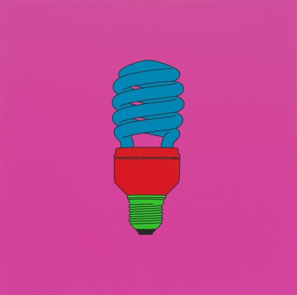 Michael Craig-Martin Untitled (light bulb) 2014 Acrylic on aluminium 122 x 122cm © Michael-Craig Martin