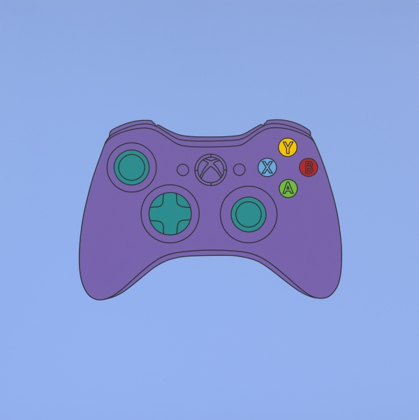 Michael Craig-Martin Untitled (xbox control) (2014) Acrylic on aluminium 200 x 200 cm © Michael-Craig Martin. Courtesy of Gagosian Gallery. Photo: Mike Bruce.