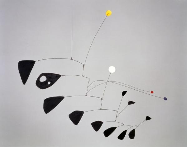Antennae with Red and Blue Dots (1953) by Alexander Calder. Tate © ARS, NY and DACS, London 2015