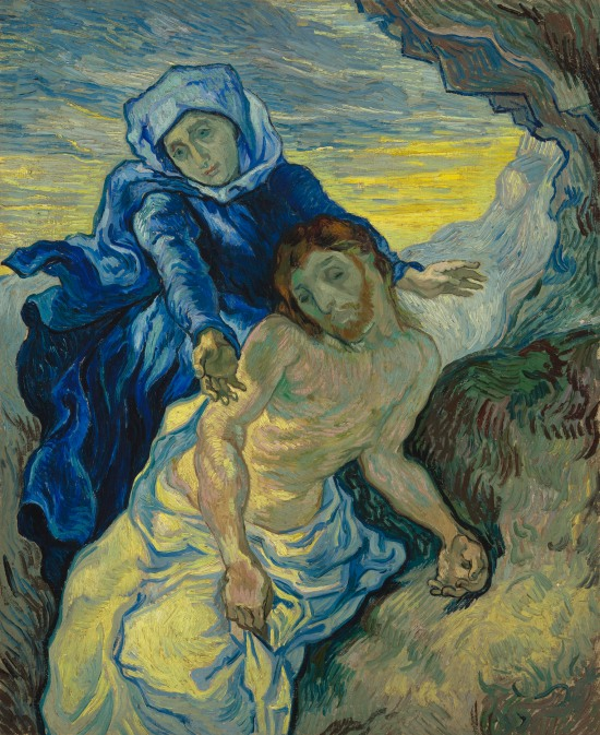Pietà (after Delacroix) by Vincent van Gogh (1889) © Van Gogh Museum (Vincent Van Gogh Foundation), Amsterdam (s168V/1962)
