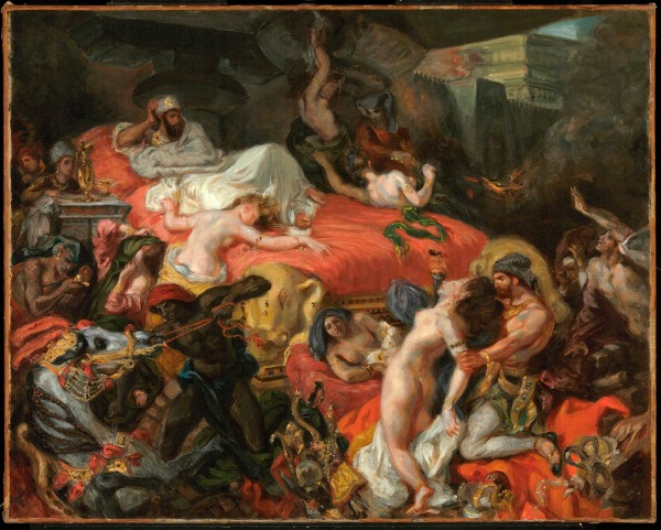 The Death of Sardanapalus (reduced replica) by Eugène Delacroix (1846) © Philadelphia Museum of Art, Pennsylvania. The Henry P. McIlhenny Collection in memory of Frances P. McIlhenny, 1986 (1986-26-17)