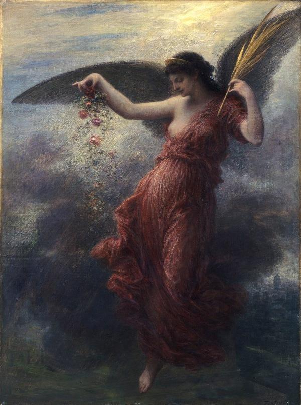 Immortality by Ignace-Henri-Théodore Fantin-Latour (1889) © Amgueddfa Cymru - National Museum Wales (NMWA 2462)