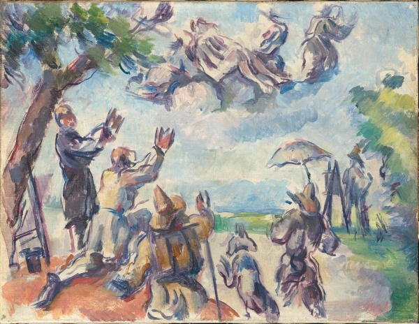 Apotheosis of Delacroix by Paul Cézanne (1890-4) Paris, Musée d'Orsay, on loan to the Musée Granet / Aix-en-Provence (RF 1982-38) © RMN-Grand Palais (musée d'Orsay) / Hervé Lewandowski