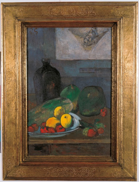 Still Life with a Sketch after Delacroix by Paul Gauguin (1887) Musée d'Art moderne et contemporain de Strasbourg © Photo Musées de Strasbourg, M. Bertola
