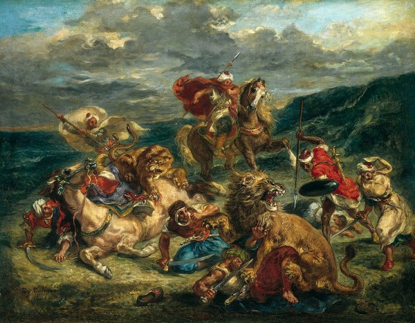 Lion Hunt by Eugène Delacroix (1861) © The Art Institute of Chicago, Illinois Potter Palmer Collection, 1922.404
