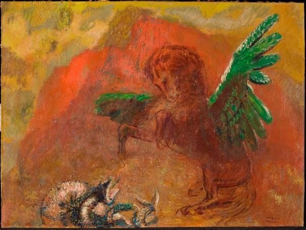 Pegasus and the hydra Odilon Redon (after 1900) Collection Kröller-Müller Museum, Otterlo, The Netherlands (KM 104.067) © Collection Kröller-Müller Museum, Otterlo. Photo Rik Klein Gotink