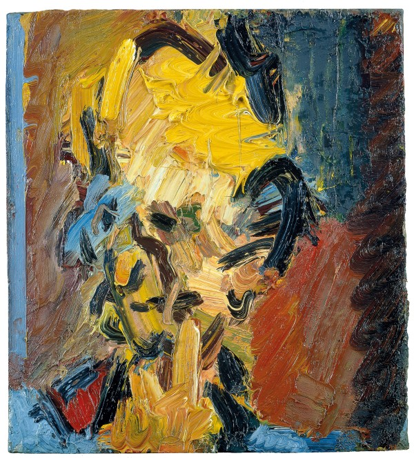 Frank Auerbach, Head of William Feaver (2003) Collection of Gina and Stuart Peterson© Frank Auerbach, courtesy Marlborough Fine Art