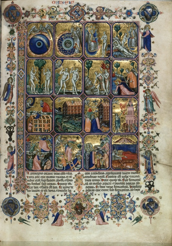Cristoforo Orimina - Genesis (in the so called 'Hamilton-Bible'), around 1350-60. Book illumination and gold on parchment, 37.5 x 26.5 cm. © Staatliche Museen zu Berlin, Kupferstichkabinett / Jörg P. Anders