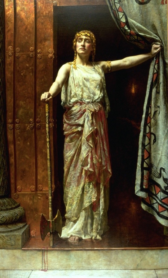 Clytemnestra, 1882, oil on canvas by John Collier (1850-1934) Image courtesy Guildhall Art Gallery, City of London