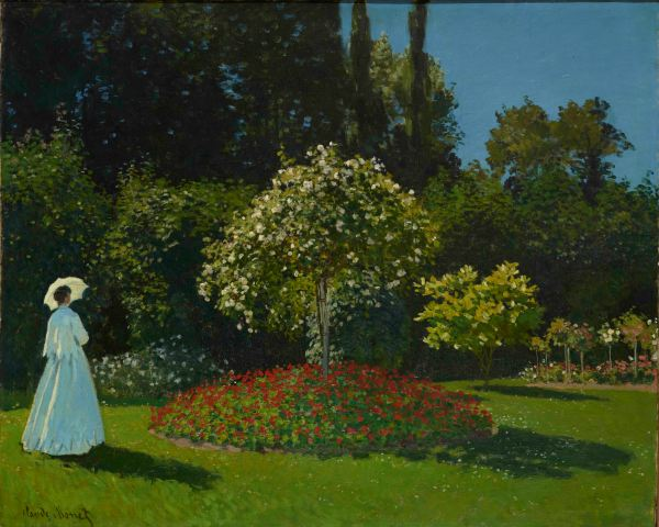 Lady in the Garden (1867) by Claude Monet. The State Hermitage Museum, St. Petersburg. Photo (c) The State Hermitage Museum. Photography: Vladimir Terebenin