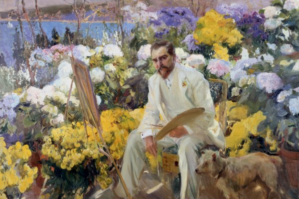 Louis Comfort Tiffany (1911) by Joaquin Sorolla. On loan from the Hispanic Society of America, New York, NY. Photo (c) Courtesy of The Hispanic Society of America, New York