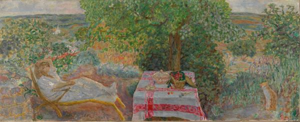 Resting in the Garden (Sieste au jardin) (1914) by Pierre Bonnard. The National Museum of Art, Architecture and Design, Oslo. Photo (c) Nasjonalmuseet for kunst, arkitektur og design/The National Museum of Art, Architecture and Design / (c) ADAGP, Paris and DACS, London 2015